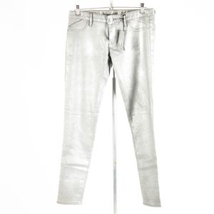 NWT Express – Shimmering Silver Jeans – 8